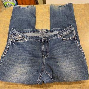 Revolt Women's Plus Size Boot Cut Jeans